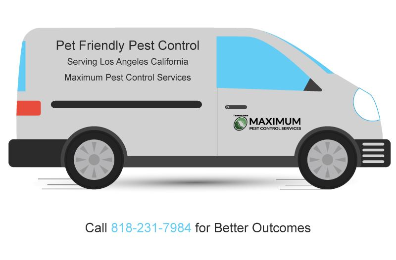 illustration of a pest control van